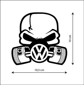 2cdcca84b Adesivo Oakley Skull Caveira Adesivos Volkswagen - Acessórios de ...