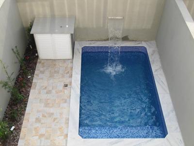 Sobrados Com Piscina 2 Dormitórios A 100m Do Mar Em Itanhaém