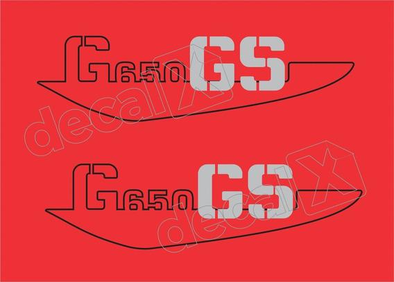 Emblema Adesivo Bmw G650 Gs Vermelha Par Bwg650gs02