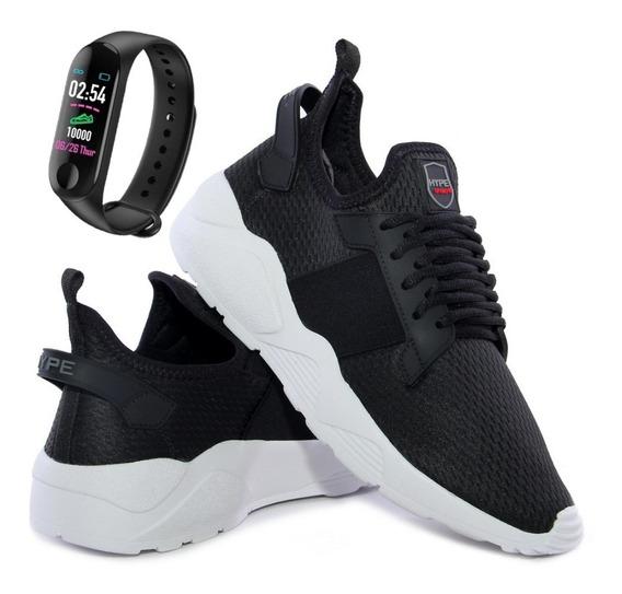 Tênis Caminhada Corrida Unissex Conforto Leve + Smartwatch