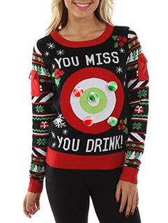Suéter De Navidad Con Juego Para Beber De Elfos Achispados