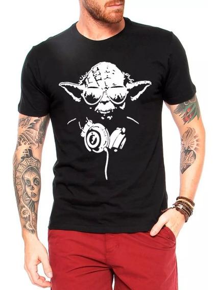 Camiseta Masculina Mestre Yoda Phone Star Wars Blusa/camisa