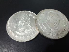 Par De Monedas De Plata, Peso 1957 Y 1958