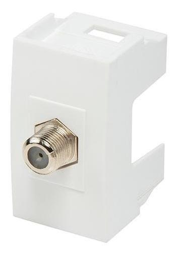 Módulo Cable Coaxial Scudetto Prime, Blanco Brillante