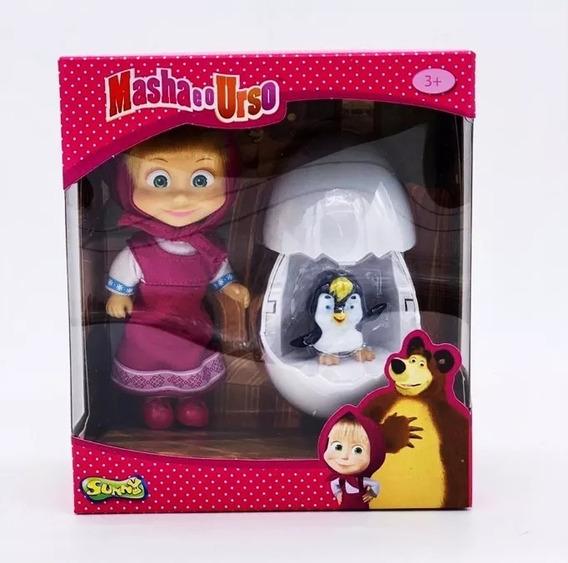 Nova Boneca Masha E O Urso Masha E Pinguim Sunny