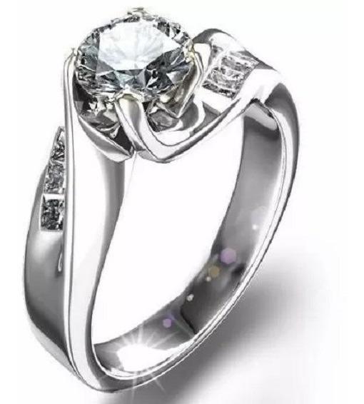 Anillos Compromiso 14kt De .22ct Diamante Natural Marloz