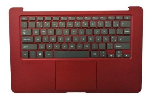 Carcaça Com Teclado E Touchpad  Positivo Motion Q232a Red