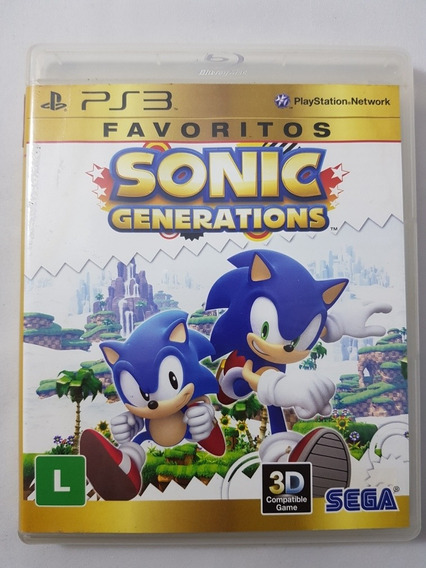 Sonic Generations Favoritos Ps3 Mídia Física Pronta Entrega