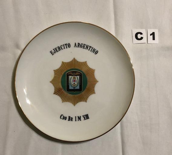 Lodelele Plato Porcelana Ejercito Colección (c1)