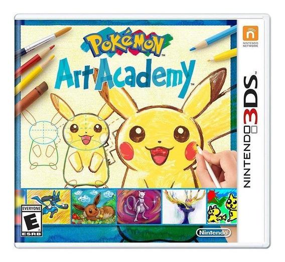 Pokémon Art Academy 3ds Mídia Física Novo Lacrado