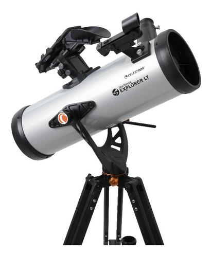 Telescópio Celestron Com Autoguide Smartphone Explorer Lt114