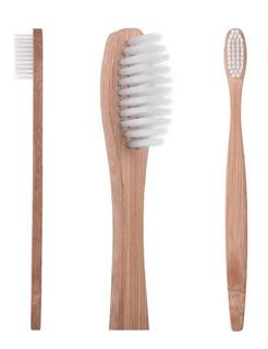 4 Pz Ambiental Cepillo Bamboo Dental Dura 6 Veces Más Salud