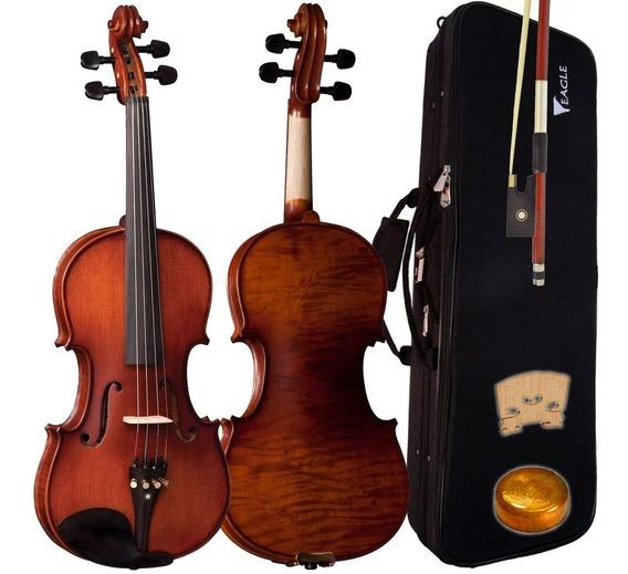 Violino Eagle Ve244 4/4 Envelhecido Acetinado Fosco C Estojo