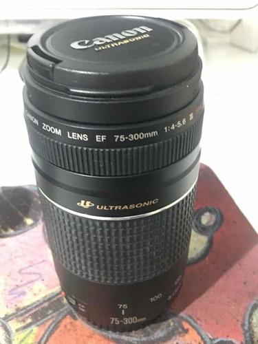 Lente Canon 75-300mm F/4-56 Iii Usm Em Estado De Nova!