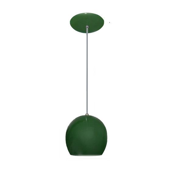 Luminaria Colorida Modelo Bolinha - 14cm X 15cm Verde