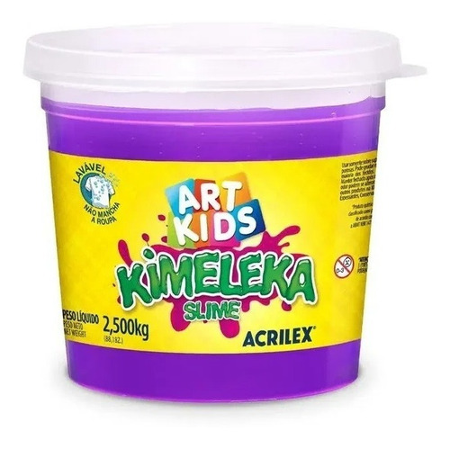 Slime Kimeleca 2,5kg Violeta Acrilex