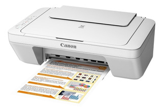 Impresora a color multifunción Canon Pixma MG2410 110V/220V blanca