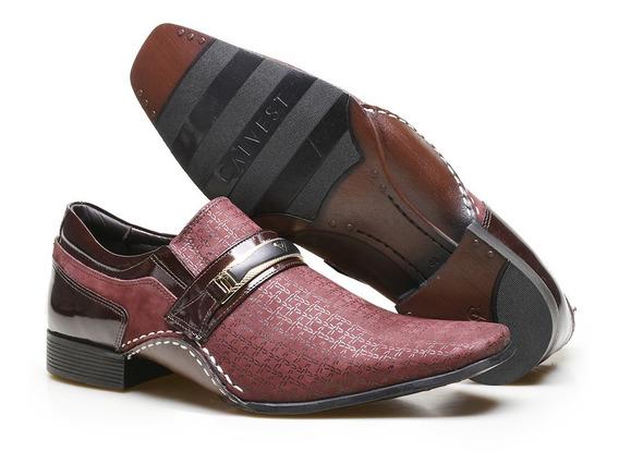 Sapato Social Masculino Couro Textura Calvest Envio Rápido