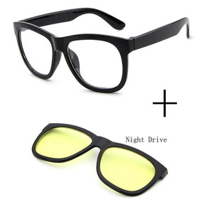 fb13120c2 Oculos Quadrado Preto Lentes Transparente Grande - Óculos no Mercado ...