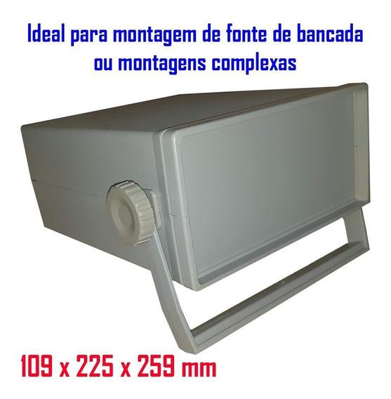 Caixa Plástica Para Circuito Eletrônico E Fonte De Bancada