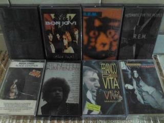 Cassettes Bon Jovi Rem Alice Cooper Jimi Hendrix Franco De V