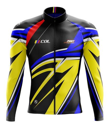Jersey Ciclismo Camiseta Ruta Colombia Manga Larga
