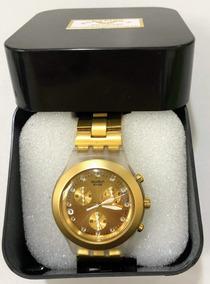 Relogio Original Swatch Gold Irony - Diaphane