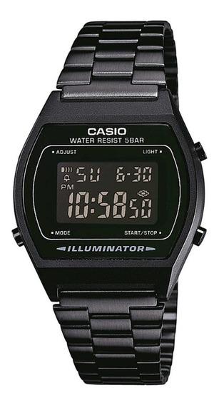 Relógio Casio B640 Vintage Preto Digital Unissex Aço - Novo