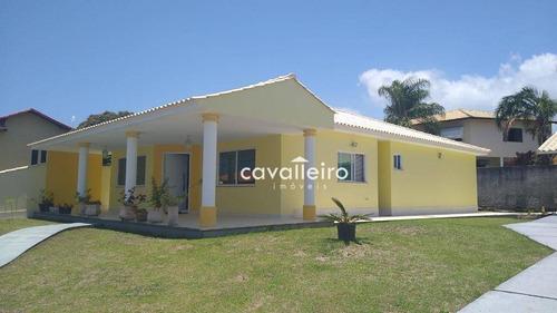 Casa No Condomínio Elisa, Com 3 Dormitórios À Venda, 178 M²  - Maricá/rj - Ca4015