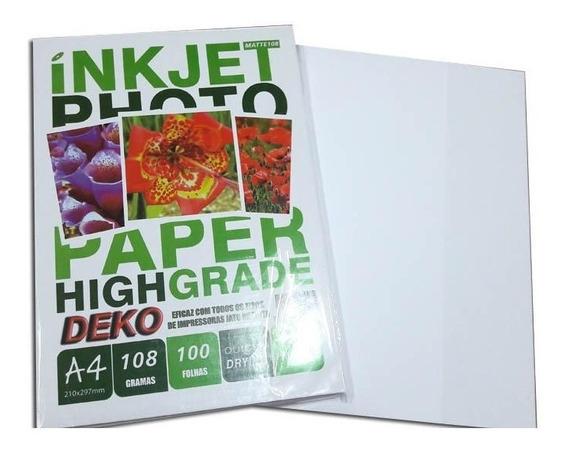 2600 Folhas 1cx Papel Fotografico Matte Fosc A4 108 Gramas
