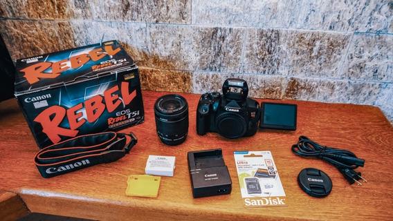 Canon T5i + Lente18-55 + Caixa + Cartão 16gb A Vista 1950,00