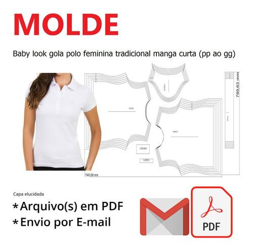 Baby Look Gola Polo Feminina Trad. Manga Curta (pp Ao Gg)