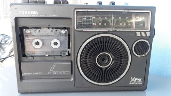 Rádio E Gravador Toshiba Rt6100