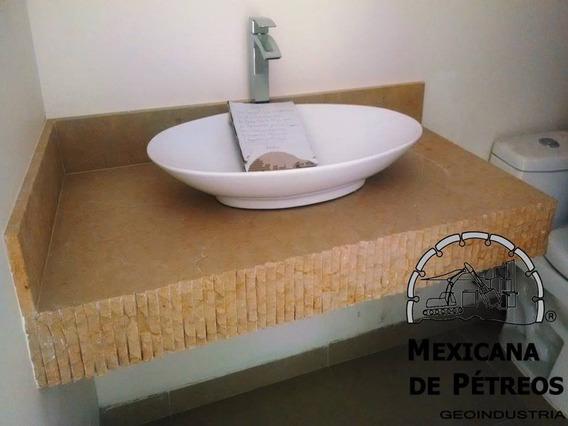 Cubierta De Lavabo De Mármol Dorado Acabado Piedra Rústica