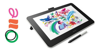 Tableta Wacom One Pantalla Color 13.3 Win Mac Lapiz = Huion