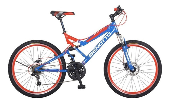 Bicicleta Benotto Navy Mtb Rodada 26 Doble Suspension