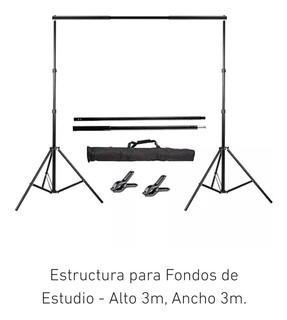 Estructura Para Fondos De Estudio De Alto 3m X Ancho 3 M