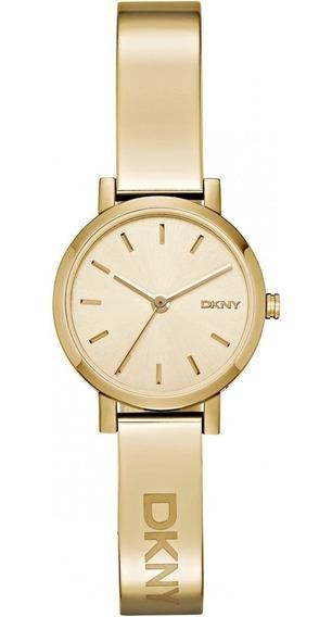 Relógio Luxo Feminino Dkny Bracelete Dourado C/nf Ny2307/8dn