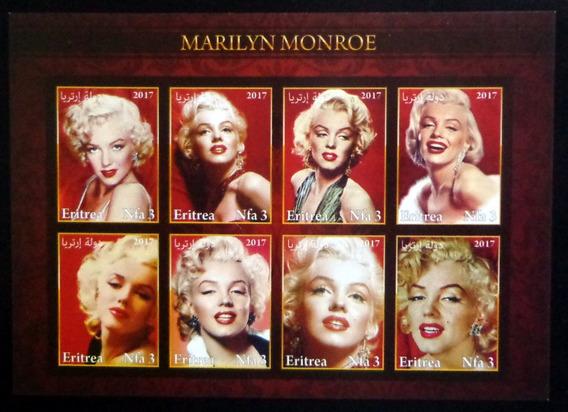 Eritrea, Bloq 8 Sellos S Dentar Marilyn Monroe 17 Mint L9863