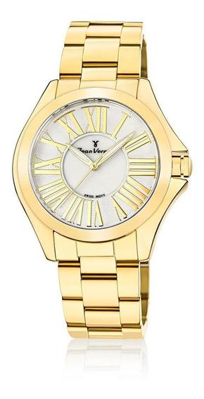 Relógio Pulso Jean Vernier Feminino Analógico Jv01126