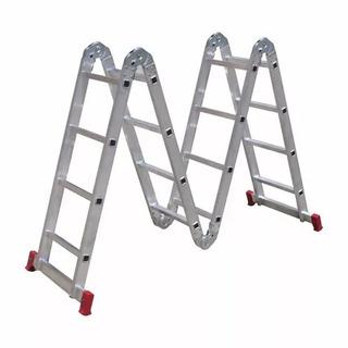Escalera Aluminio Articulada Botafogo 4 Tramos X 4 Escalones