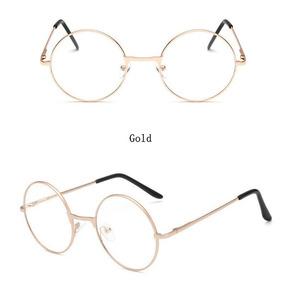 ef7b41bc2 Oculo Grau Redondo Dourado - Óculos no Mercado Livre Brasil
