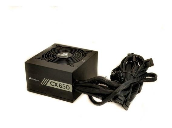 Fonte Corsair Cx650 650watts Pc Gamer 80 Plus Bronze