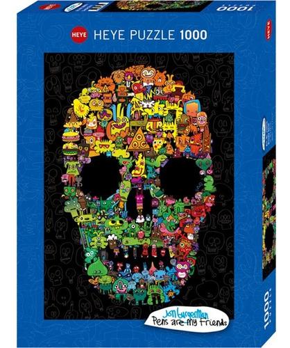 Rompecabezas 1000 Piezas Heye, Burgerman: Collage Calavera