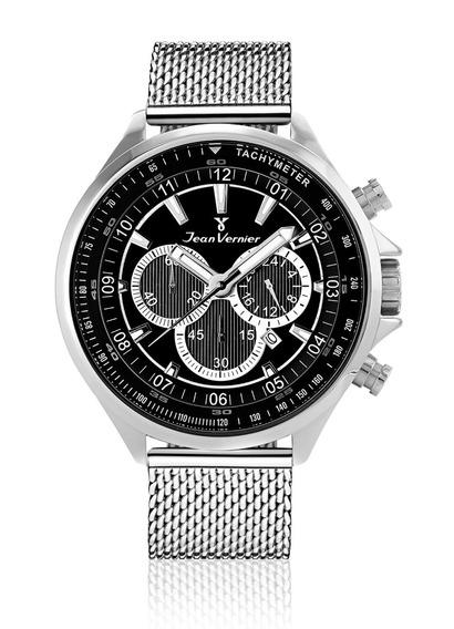 Relógio Pulso Jean Vernier Masculino Aço 5 Atm Analógico