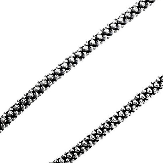Pulseira Bracelete Pipoca Em Prata 925 Prata De Bali 19 Cm
