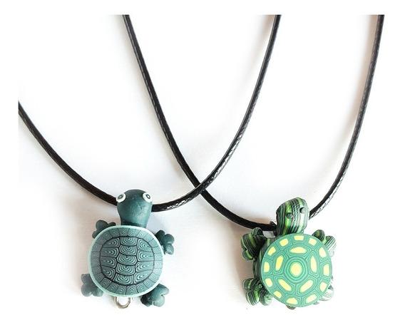 2 Collar Tortugas Para Novios Pareja Amigos