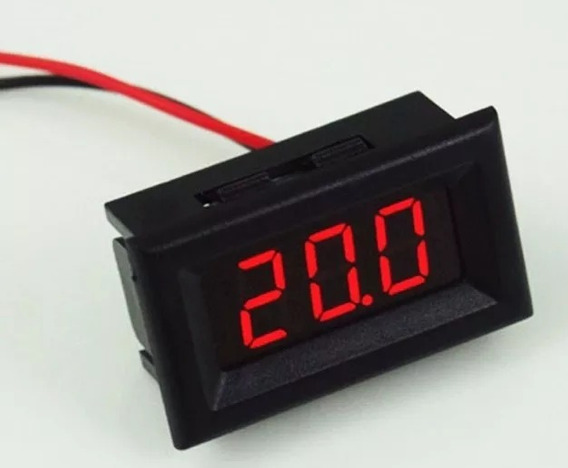 Voltímetro Digital Medidor Bateria Automotivo 2 Fios Carros