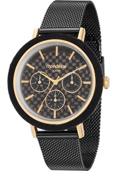Relógio Feminino Mondaine 89011lpmvhe1 Aço Negro