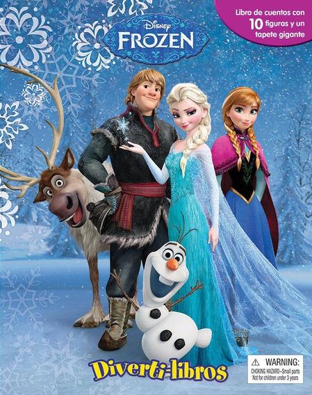 Frozen Diverti-libros Libro Para Niños Con 10 Figuras